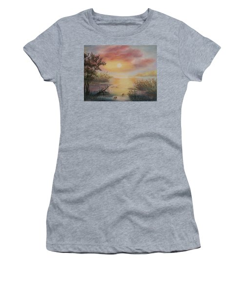 Sunset By The Lake Women's T-Shirt