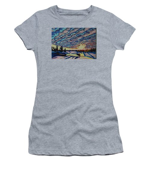 Sunset Deformation Women's T-Shirt (Junior Cut) by Phil Chadwick