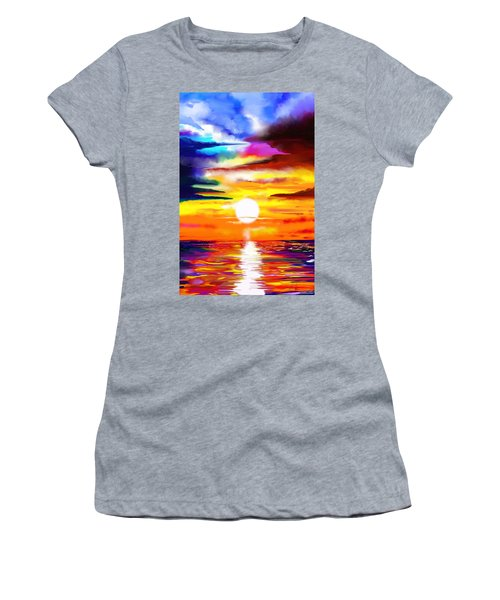 Sunset Explosion Women's T-Shirt (Athletic Fit)