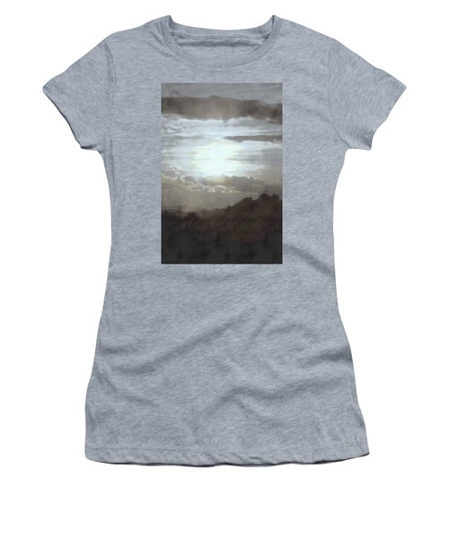 Women's T-Shirt (Junior Cut) featuring the photograph Sunset Impressions Over The Blue Ridge Mountains by Photographic Arts And Design Studio