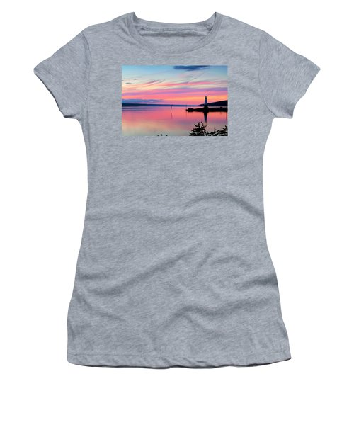 Sunset On Cayuga Lake Ithaca New York Women's T-Shirt (Athletic Fit)