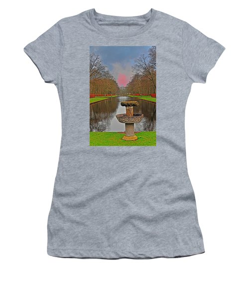 Sunset Over The Garden Women's T-Shirt (Athletic Fit)