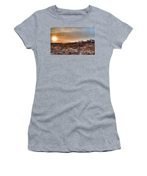 Sunset Through The Fog Women's T-Shirt (Athletic Fit)