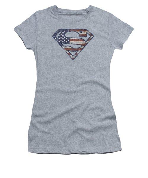 Superman - Wartorn Flag Women's T-Shirt