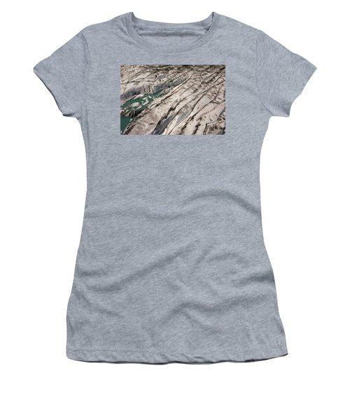 Surface Melt Ponds And Crevasses Women's T-Shirt