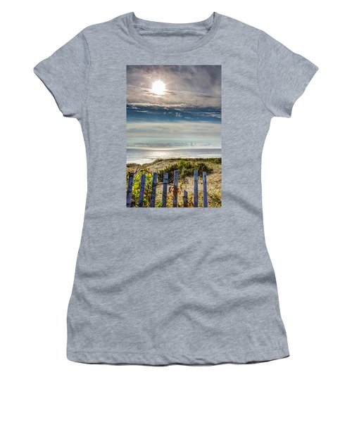 Surfers At Coast Guard Beach Women's T-Shirt (Athletic Fit)