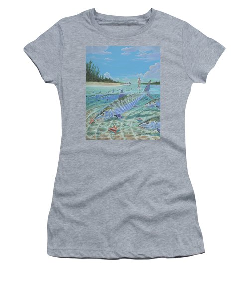 Tailing Bonefish In003 Women's T-Shirt