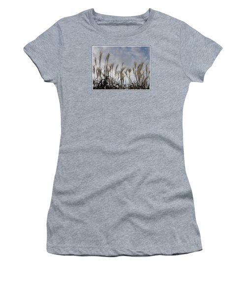 Tall Grasses And Blue Skies Women's T-Shirt (Junior Cut) by Dora Sofia Caputo Photographic Art and Design