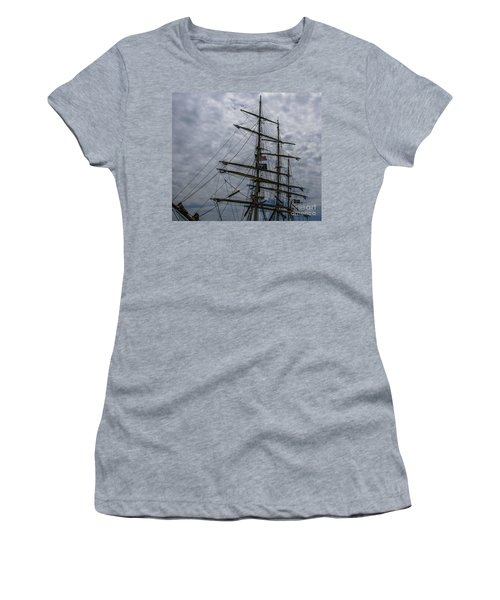 Women's T-Shirt (Junior Cut) featuring the photograph Tall Ship Mast by Dale Powell