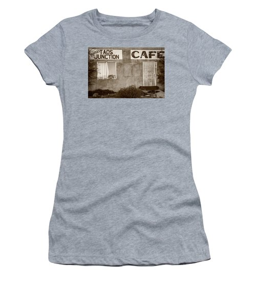 Taos Junction Cafe Women's T-Shirt (Junior Cut) by Steven Bateson