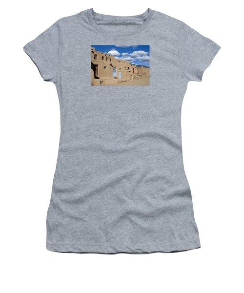 Taos Pueblo Women's T-Shirt (Junior Cut) by Elvira Butler