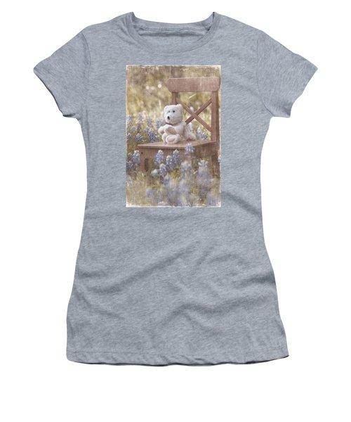 Teddy Bear And Texas Bluebonnets Women's T-Shirt