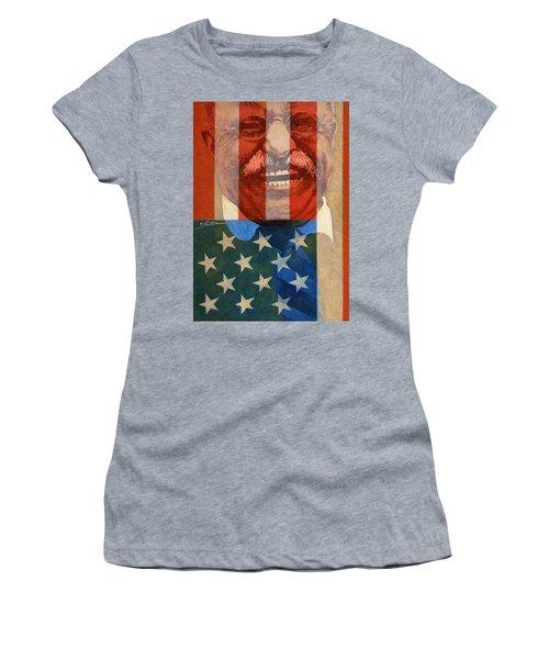 Teddy Roosevelt Women's T-Shirt (Junior Cut) by John D Benson