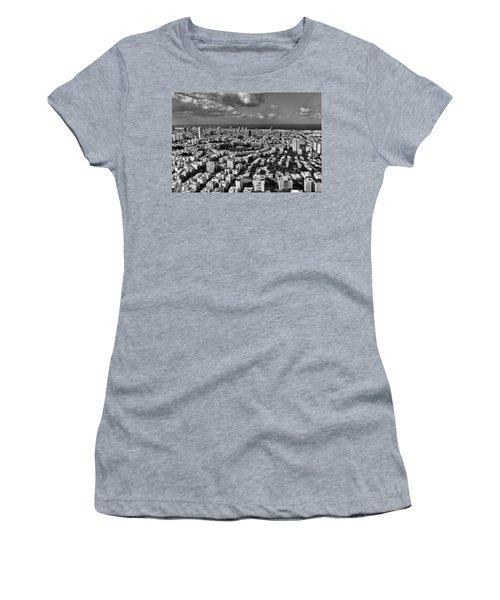 Tel Aviv Center Black And White Women's T-Shirt