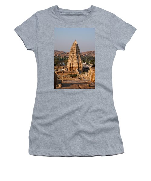 Temple At Hampi Women's T-Shirt (Athletic Fit)