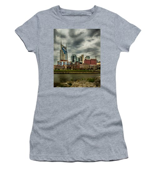 Tennessee - Nashville From Across The Cumberland River Women's T-Shirt (Athletic Fit)