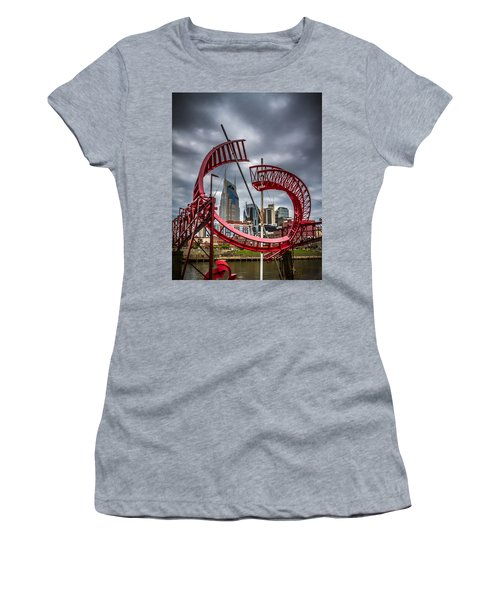 Tennessee - Nashville Through Sculpture Women's T-Shirt (Athletic Fit)