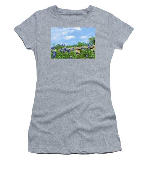 Texas Bluebonnets 08 Women's T-Shirt (Athletic Fit)