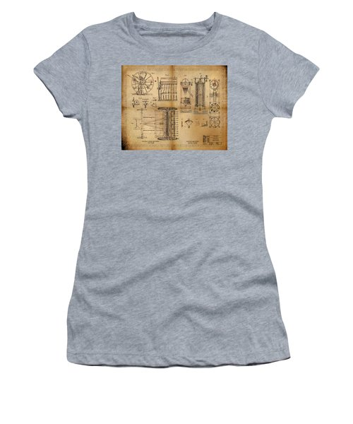 Women's T-Shirt (Junior Cut) featuring the painting Textile Machine by James Christopher Hill