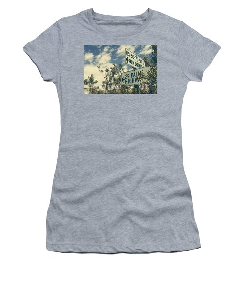 Women's T-Shirt featuring the photograph Thattaway by Laurie Search