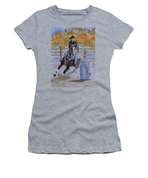 The Barrel Race Women's T-Shirt (Athletic Fit)