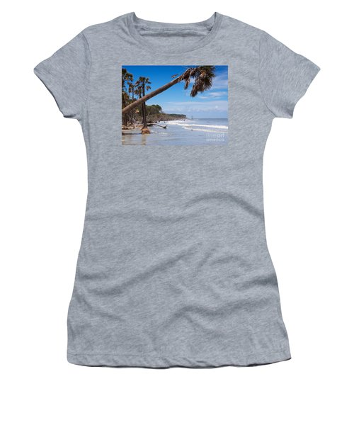The Beach At Hunting Island State Park Women's T-Shirt