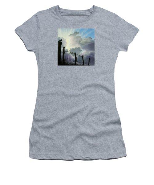 The Birds - Make A Joyful Noise Women's T-Shirt (Junior Cut) by Jack Malloch