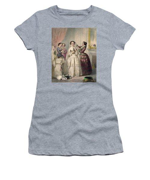 The Bride, Engraved By J. Battannier, 1852-53 Colour Litho Women's T-Shirt
