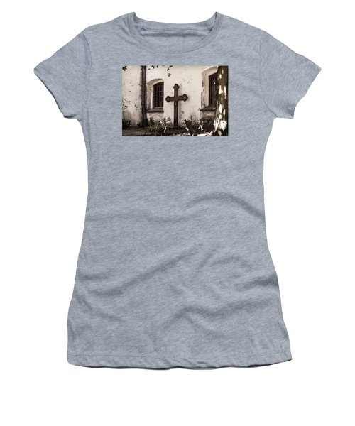 The Church Courtyard Women's T-Shirt (Athletic Fit)