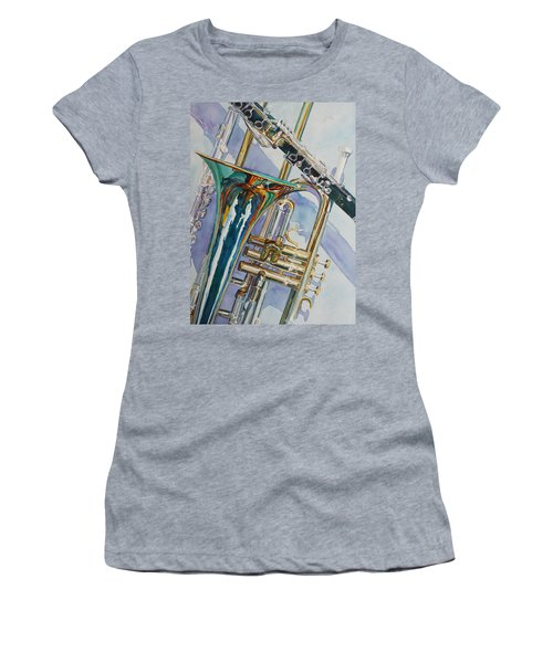 The Color Of Music Women's T-Shirt (Athletic Fit)