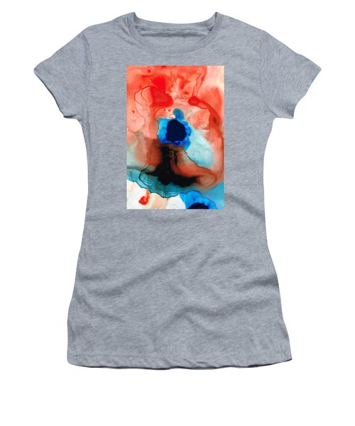 The Dancer - Abstract Red And Blue Art By Sharon Cummings Women's T-Shirt