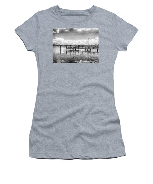 Women's T-Shirt featuring the photograph The Dock by Howard Salmon