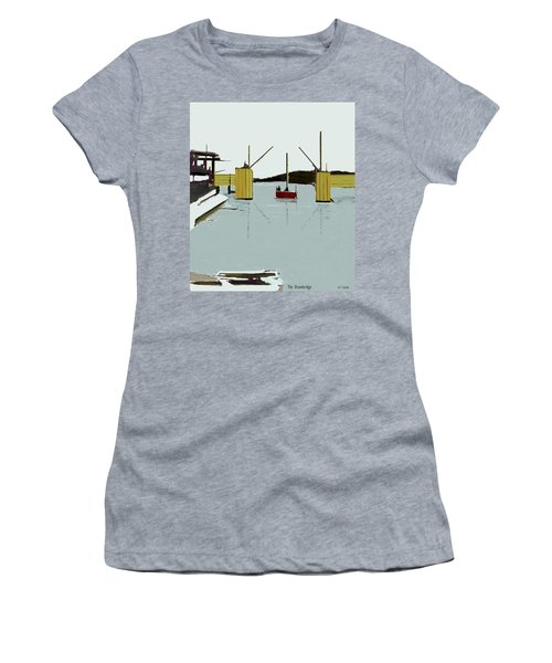 The Drawbridge   Number 4 Women's T-Shirt (Athletic Fit)