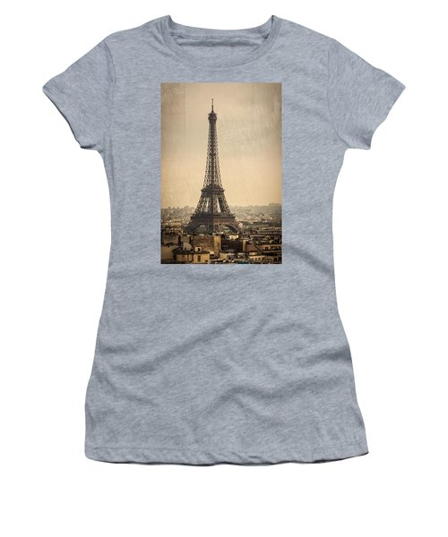 The Eiffel Tower In Paris France Women's T-Shirt