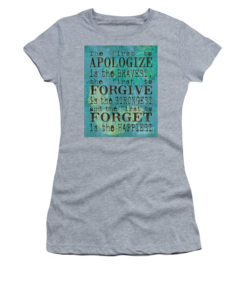 The First To Apologize Women's T-Shirt (Athletic Fit)