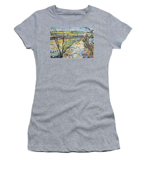 The Flooded Cherwell From Rousham I Oil On Canvas Women's T-Shirt