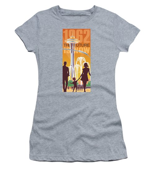 The Future Is Now - Orange Women's T-Shirt (Athletic Fit)
