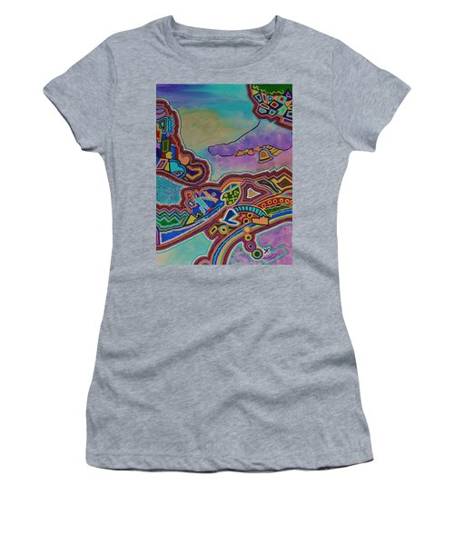 Women's T-Shirt (Junior Cut) featuring the painting The Genie Is Out Of The Bottle by Barbara St Jean
