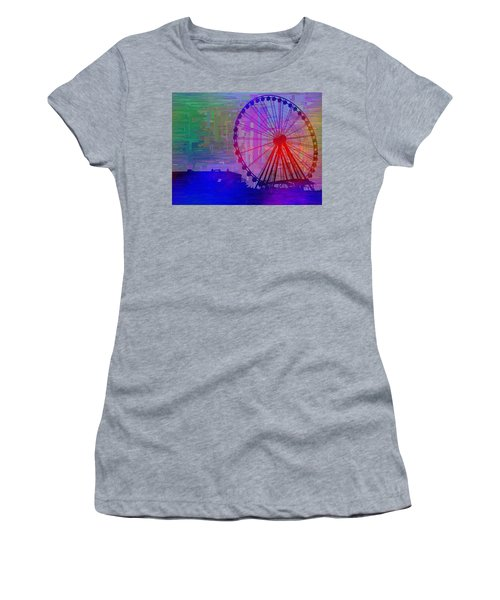 The Great  Wheel Cubed Women's T-Shirt (Athletic Fit)