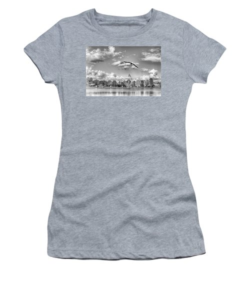 Women's T-Shirt featuring the photograph The Gull by Howard Salmon