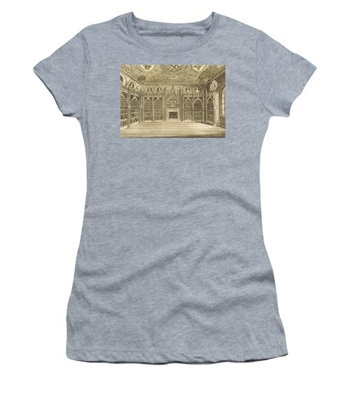 The Library, Engraved By Godfrey Women's T-Shirt