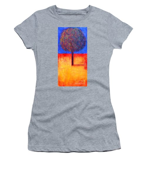 The Lonely Tree In Autumn Women's T-Shirt (Athletic Fit)