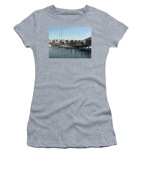 At Kent Narrows Women's T-Shirt (Junior Cut) by Charles Kraus