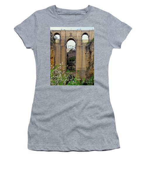 The New Bridge Women's T-Shirt (Junior Cut) by Suzanne Oesterling