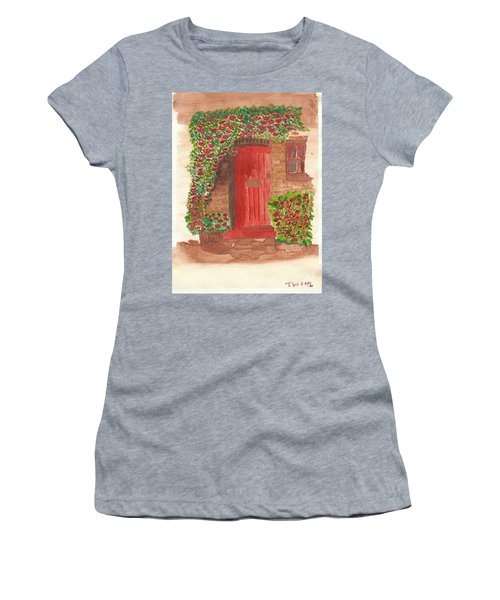 The Orange Door Women's T-Shirt (Junior Cut) by Tracey Williams