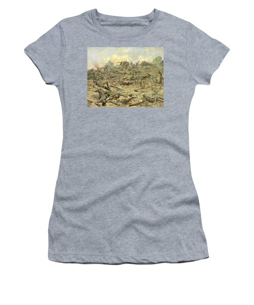 The Russian Infantry Attacking The German Entrenchments Women's T-Shirt