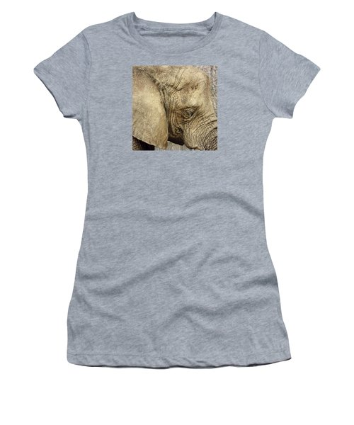 Women's T-Shirt (Junior Cut) featuring the photograph The Wise Old Elephant by Nikki McInnes
