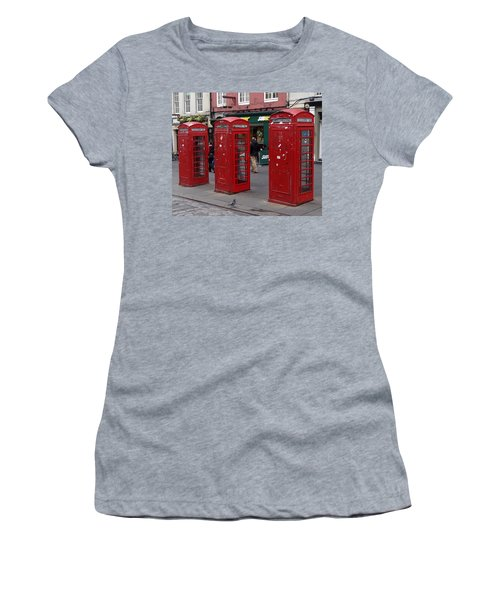 Those Red Telephone Booths Women's T-Shirt (Athletic Fit)