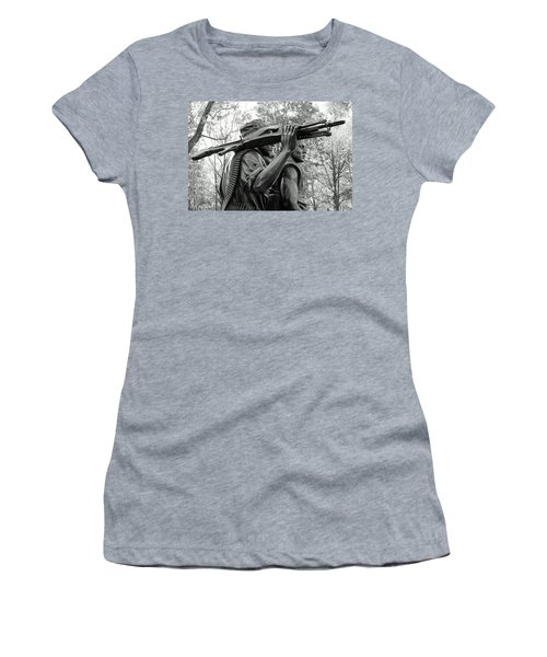 Three Soldiers In Vietnam Women's T-Shirt (Junior Cut) by Cora Wandel