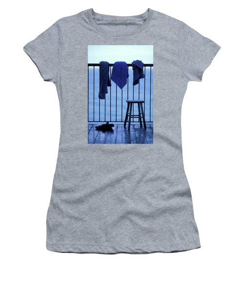 Three Towels Hanging On A Railing Women's T-Shirt
